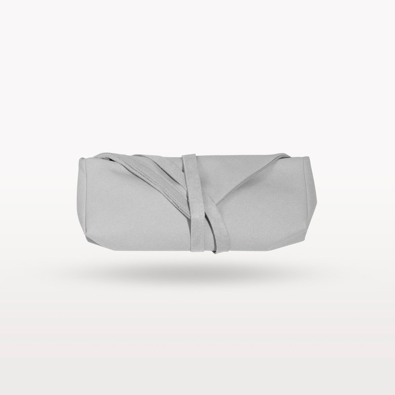 Pale grey mini V pouch