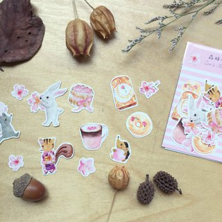 Zoe's forest cherry pink sticker