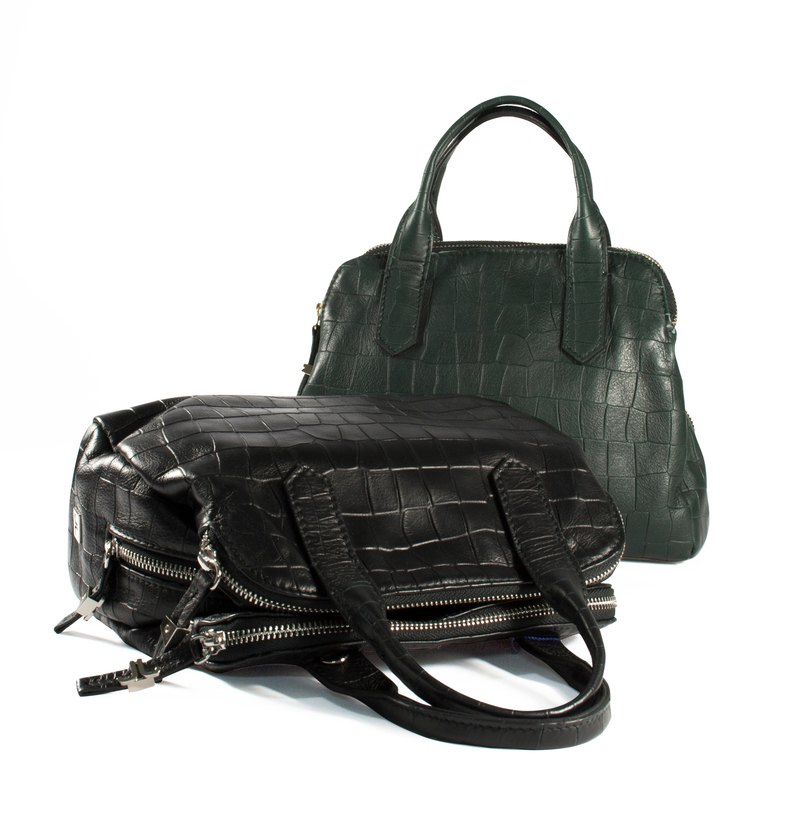 [Made in Italy] top NAPPA imitation crocodile skin embossed portable shoulder bag