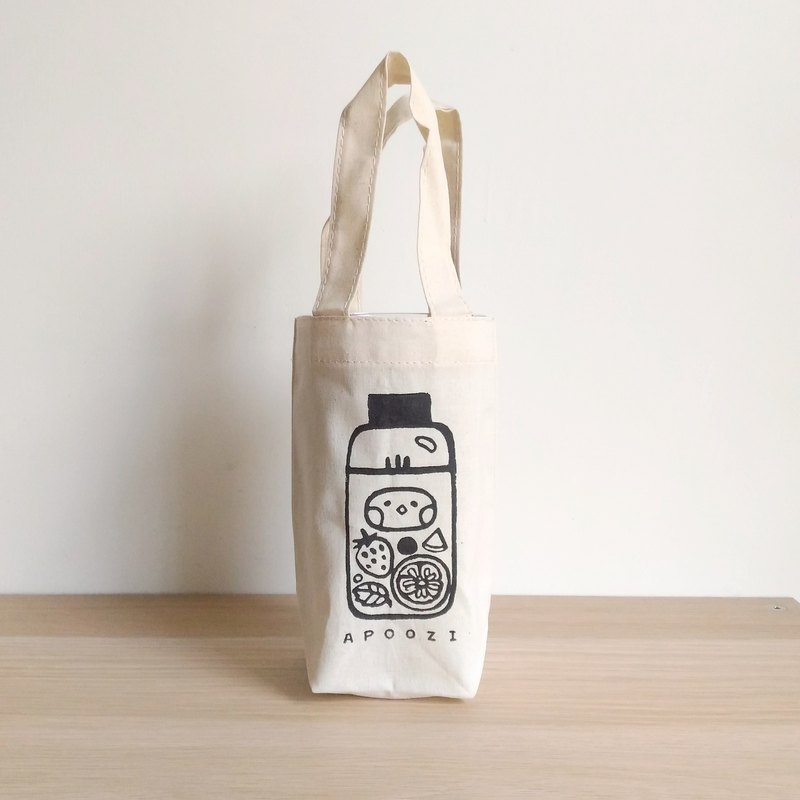 Fresh fruit tea canvas drink bag