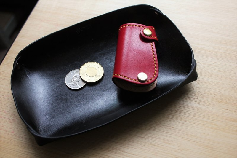 [Mini5] leather storage tray (black)