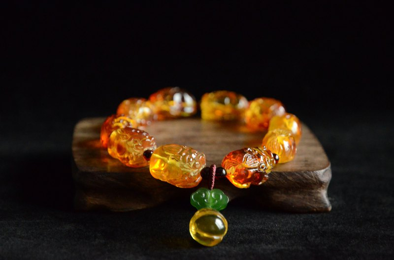 [Meeting] Amber Natural Amber Carvings Lucky Benedict Classic Bracelet Bracelets