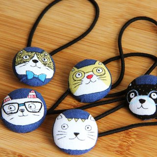 Environmental wind cute hair bundle deduction sprouting cat 5 1 group hair tie personality exchange gift