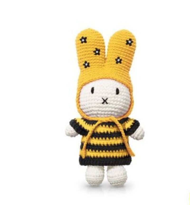 Miffy handmade and her striped bee dress + flower hat