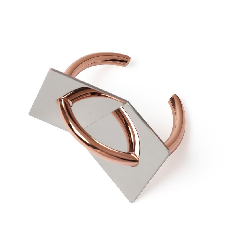 TRAVERSAL silver / rose gold mirror bracelet