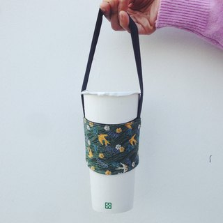 Hand made eco-friendly cup bag cup / / wild goose flew over the waves