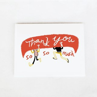 Forest & Waves Thank You Card / Canoeing