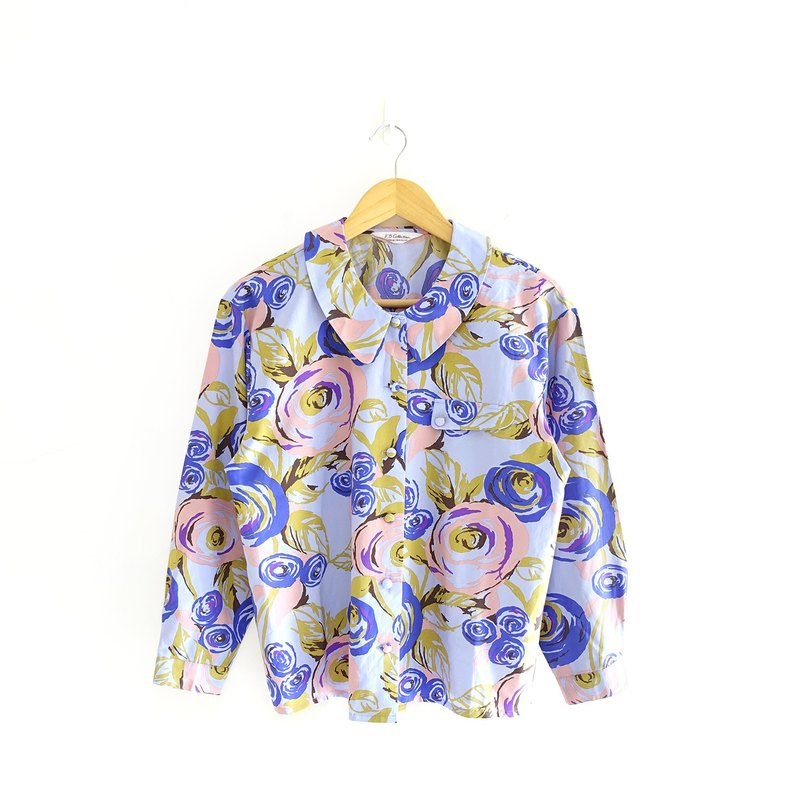 │Slowly│rose-old shirt │vintage.retro.literature.made in Japan
