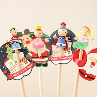 Wooden character pencil with pirate,knight,mermaid,princess topper