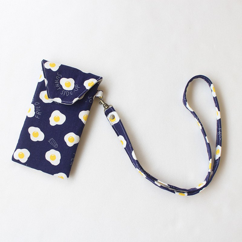 Poached egg mobile phone bag (can hang neck)