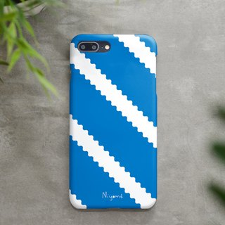 zigzag on blue iphone case สำหรับ iphone7 iphone 8, iphone 8 plus ,iphone x