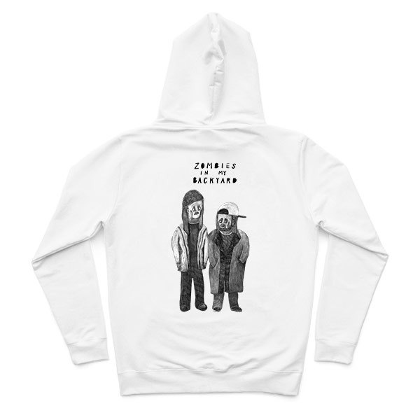 Jay and Silent Bob - White - Hooded zipper jacket