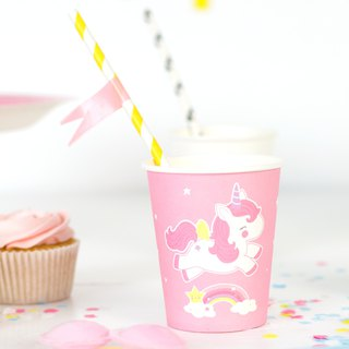 Paper cups: Unicorn