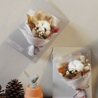 Cotton bouquet dry flower card