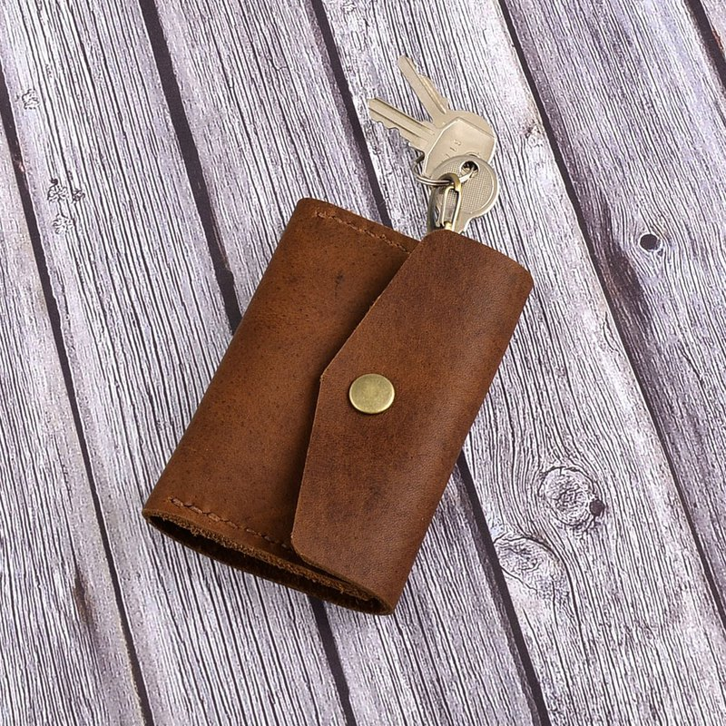 U6.JP6 handmade leather goods - simple multi-function card key package (for men and women)