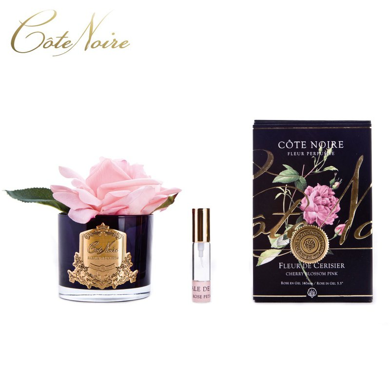 France Côte Noire Great Pink Rose Fragrance Flower Black Bottle