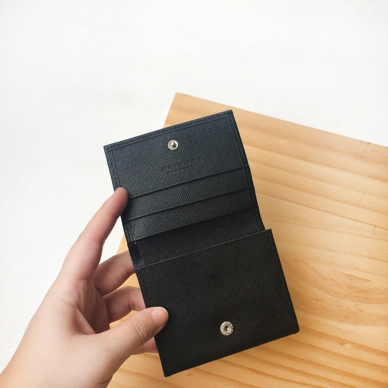 BETHGE German handmade black solid wallet + card holder | handmade German change leather