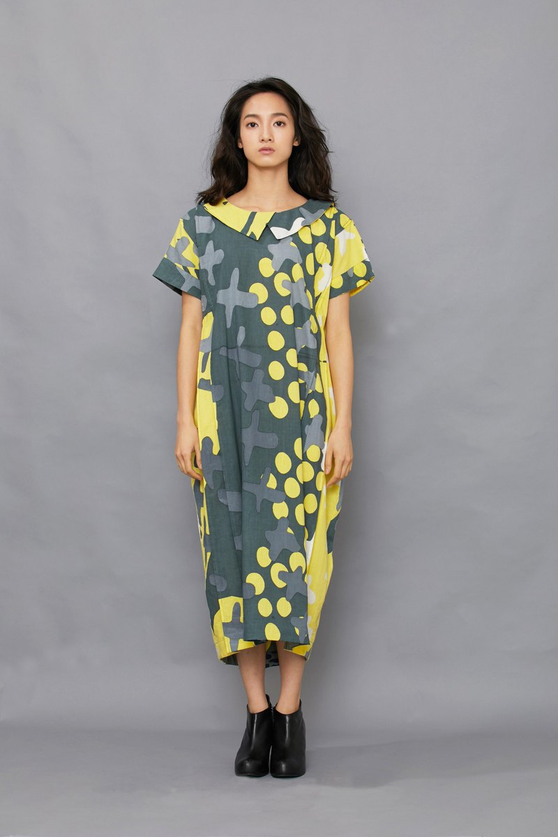 Carp Kite Dress-yellow desert-fair trade