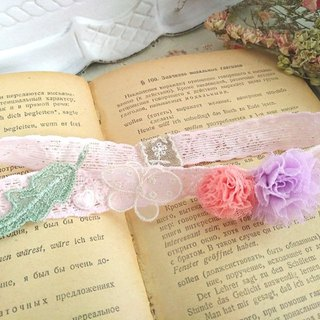 Female baby stretch lace hair rope * sweet little color ball of yarn-a O002 cute sweet little girl girl