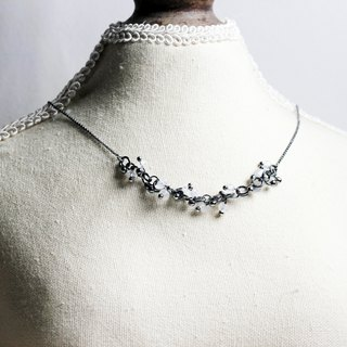 925 Sliver Necklace - Night