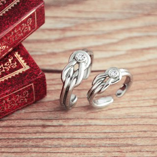 Belle blossoming knot <to the ring> male ring female ring neutral ring opening ring white steel ring is not afraid of water