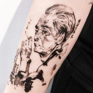 Yasunari Kawabata Japanese Artist Ink-wash Portrait Temporary Tattoo Stickers JP