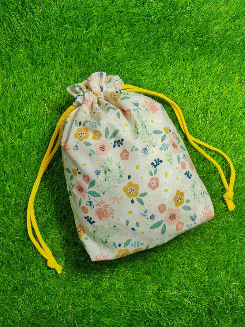 Handmade Drawstring Pocket - Small Garden