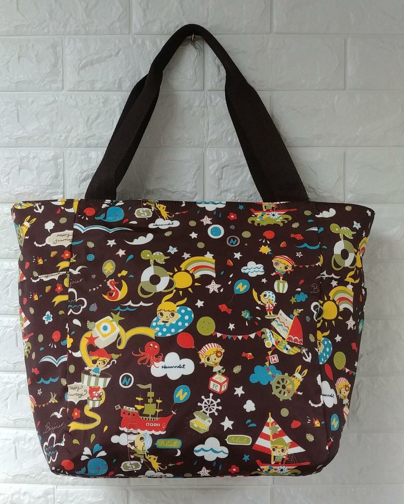 unique cute pirate Pattern Design Large Bag