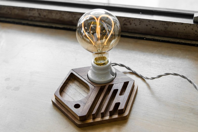 - Jin Space Design - Hex Spelling Log Light Group - LED Love Light Bulb