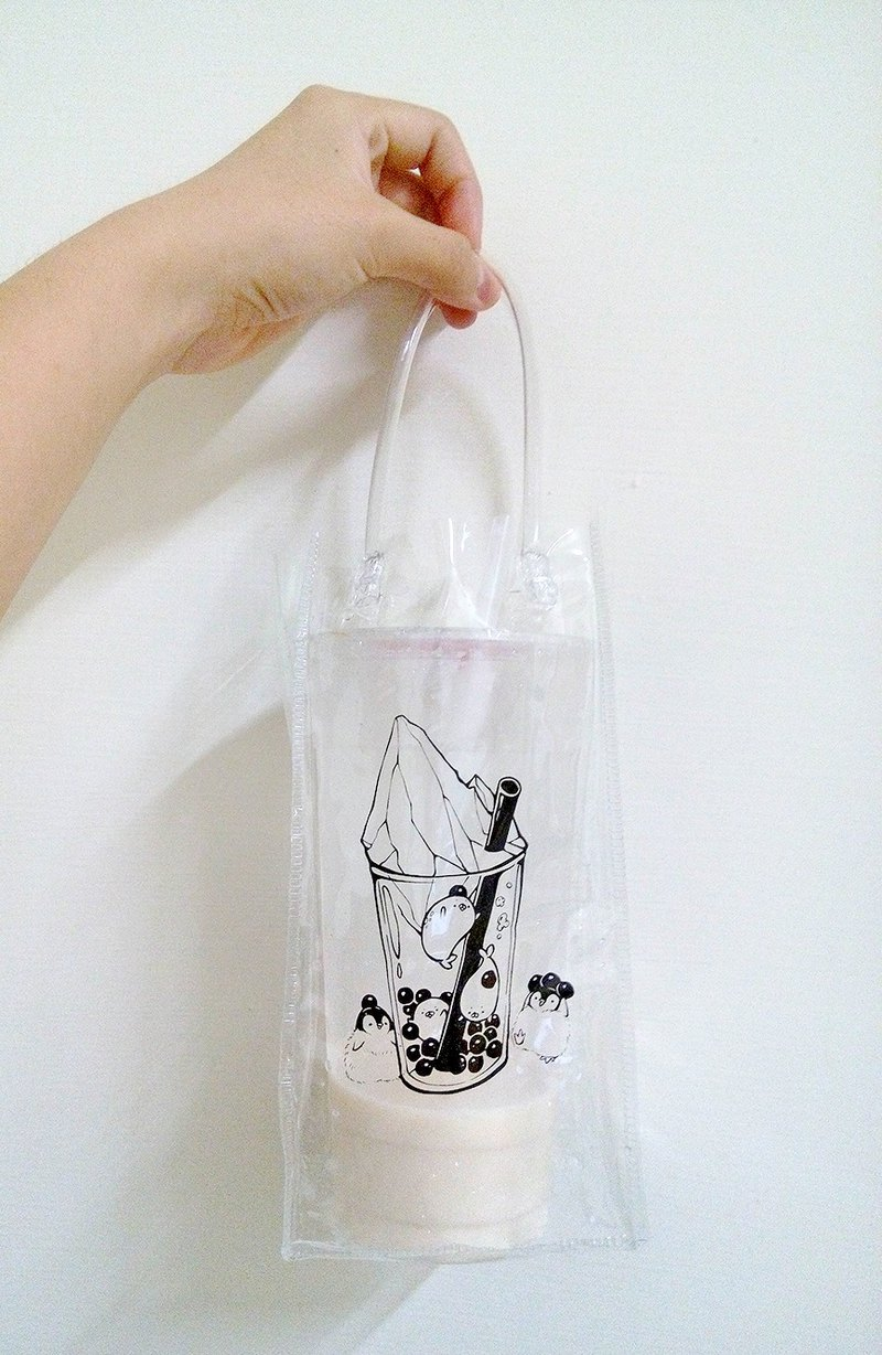 Antarctic milk drink cup bag / green waterproof / water bottle bag / umbrella bag / original