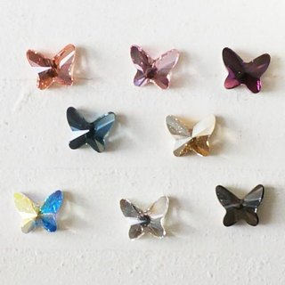 [14kgf] Swarovski ♡ butterfly earrings *: ...