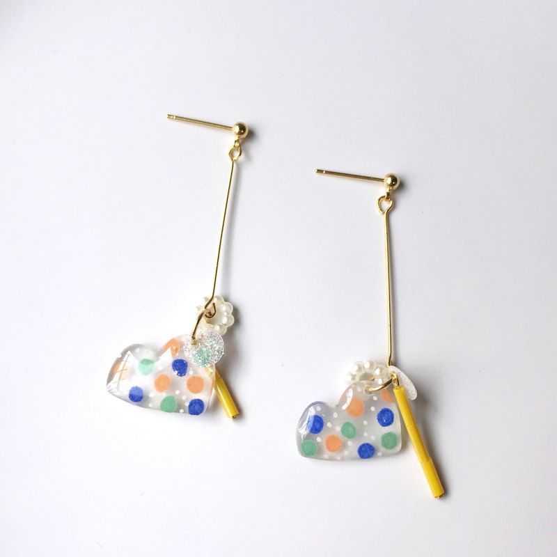 Hill Jumping Sugar Clip/Pin Earrings