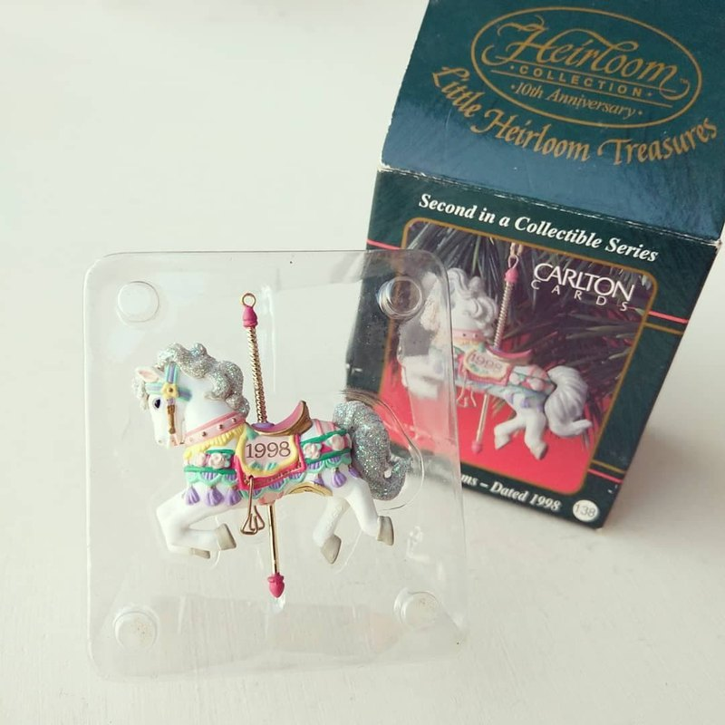 United States 1998 Carlton Antique Christmas Charm - Carousel Dreams horse
