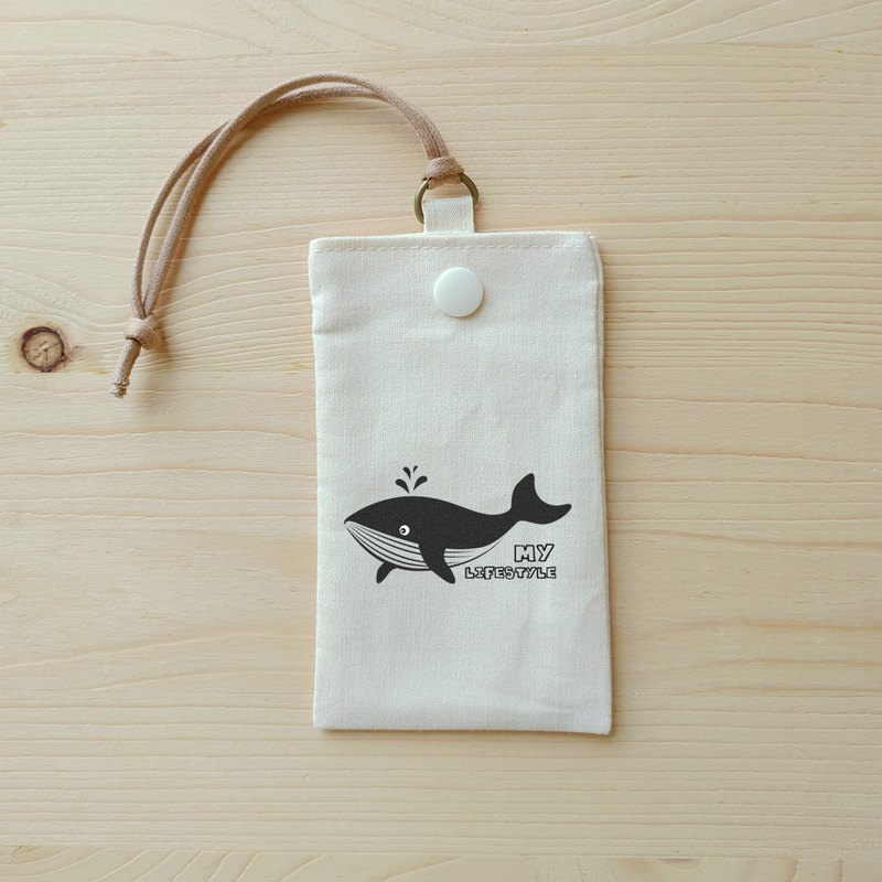 Whale simple card pocket