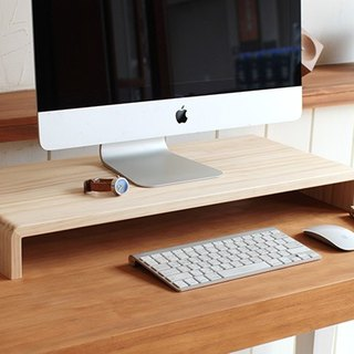 Pre-ordered - wide version - ㄇ type wood screen frame / keyboard stand / small shelf (public version 2)