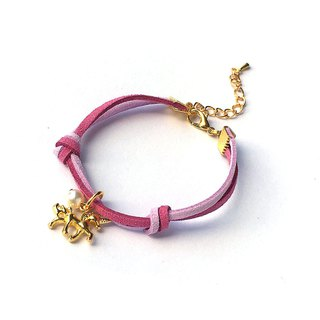 Handmade Simple Stylish Unicorn Bracelets Gold Series–purple