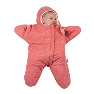 [Spanish] Shark bite a BabyBites cotton baby sleeping bag - Indian red starfish