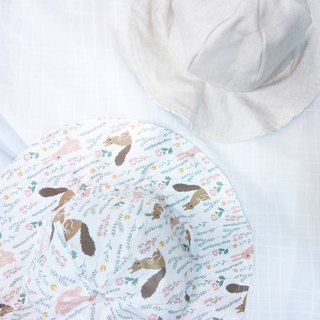 Lightweight wide-brimmed dome dome cap | Squirrel rabbit