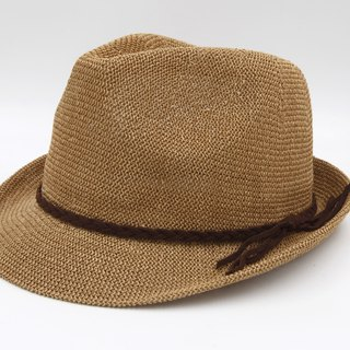 [Paper cloth home] Japanese gentleman hat netted brown