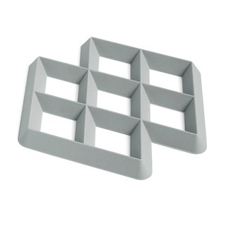 Rhom Trivet Grid insulation mat - light grey