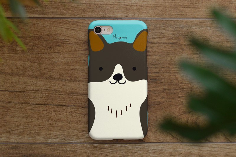iphone case dark brown smiley dog for iphone 6,7,8, iphone xs, iphone xs max