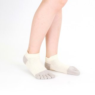 washi-2tone short 5toe socks