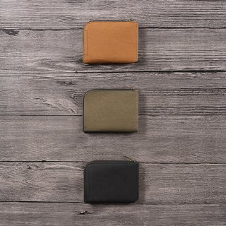 Washed kraft paper thin short clip _ calm dark color