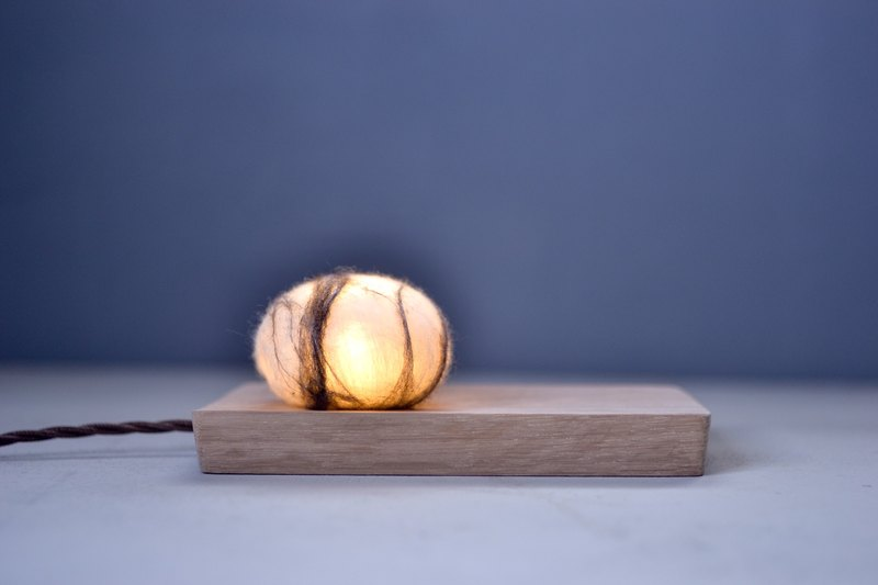 Pebble Stone Night Light Wooden Wool felt Handcrafted Led Light USB Plug