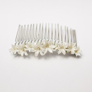 Handmade Resin Clay Floral Hair Pin - L