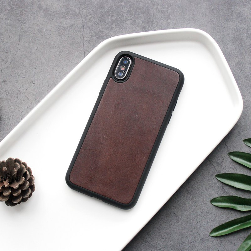 Dark brown iphone11pro 78 plus x xs max xr leather phone case cover customized