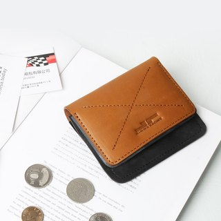 JIMMY RACING handmade leather retro wallet card holder (three colors optional) black, camel, red Q143S