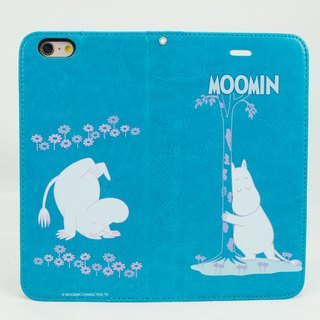 "Moomin Moomin genuine authority - Magnetic phone holster: [rollover Moomin (blue-green)] ""iPhone / Samsung / HTC / ASUS / Sony"""