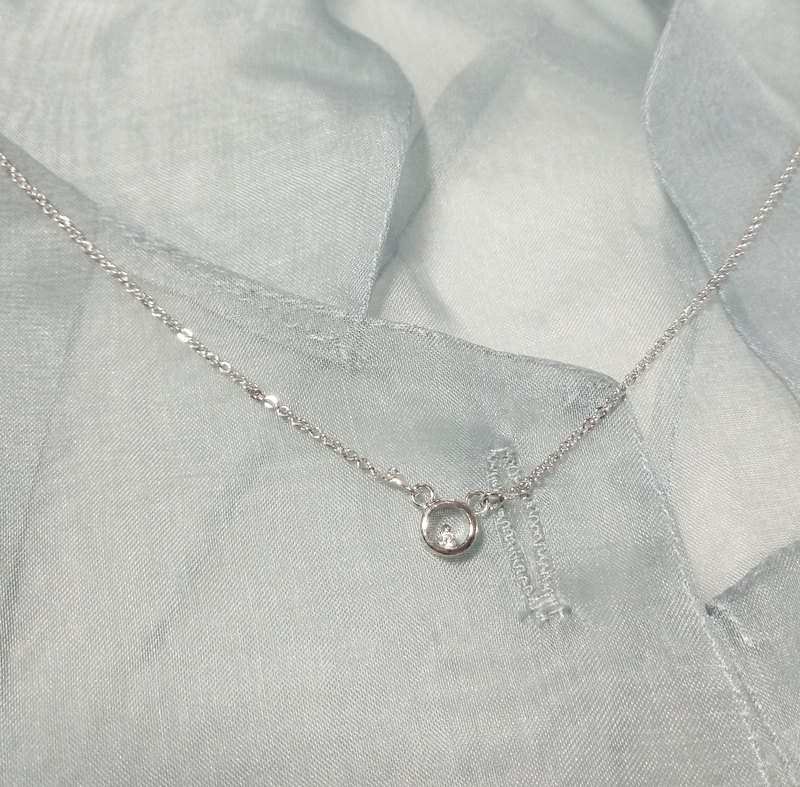 Sterling silver circle clavicle chain