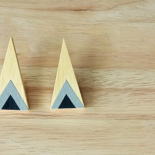 Triangular wood earrings